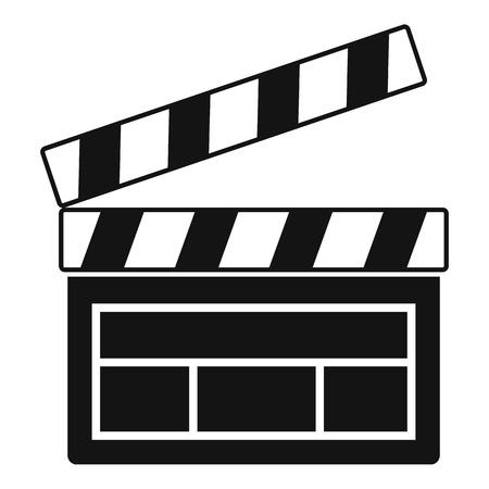 Film clapper icon, simple style Illustration