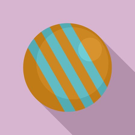 Croquet ball icon, flat style