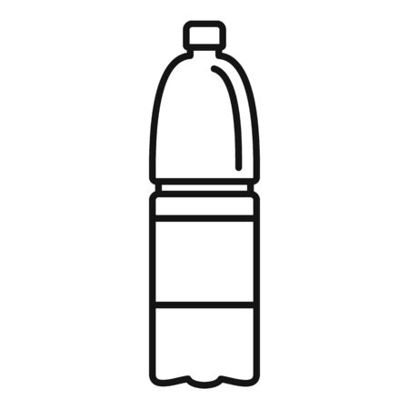 Water bottle icon, outline style
