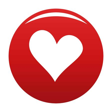 Evil heart icon vector red