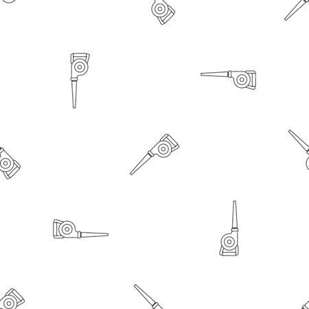 Garden vacuum cleaner pattern seamless vector