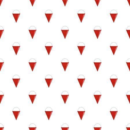 Fire bucket pattern seamless vector Stock Illustratie