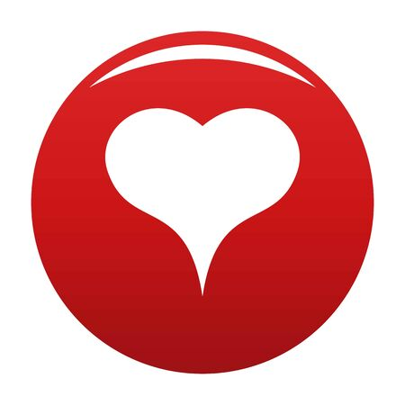 Lion Heart icon vector red 免版税图像 - 124508372