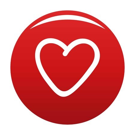 Greedy heart icon vector red