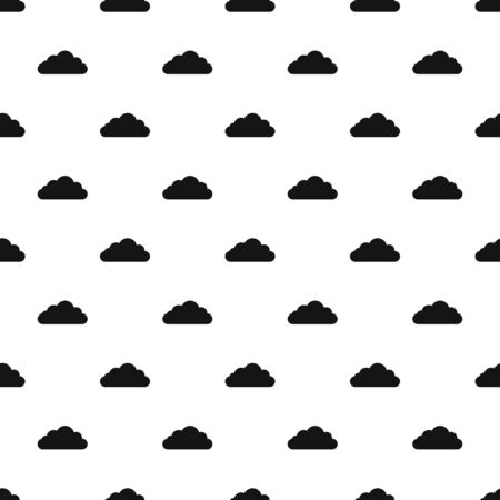 Bottom cloud pattern seamless vector Illustration