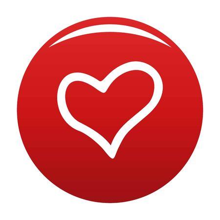 Faithful heart icon vector red