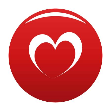 Frantic heart icon vector red