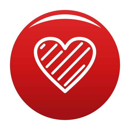 Simple heart icon vector red