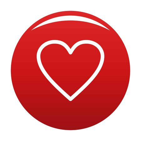 Ardent heart icon vector red
