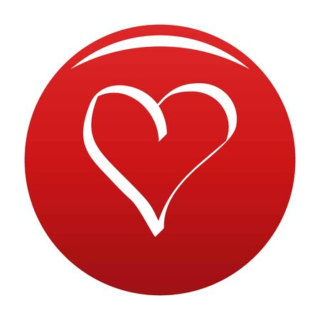 Best heart icon vector red