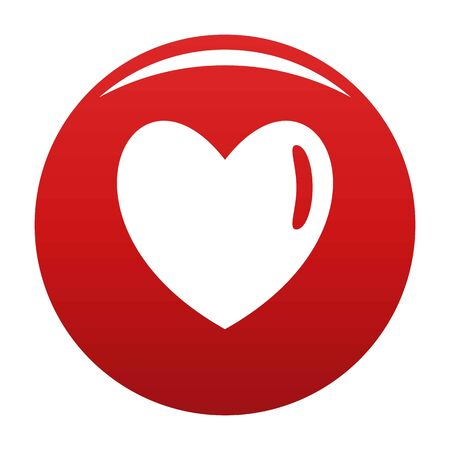 Warm human heart icon vector red