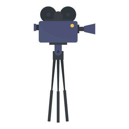 Video camera film production icon. Flat illustration of video camera film production vector icon for web design