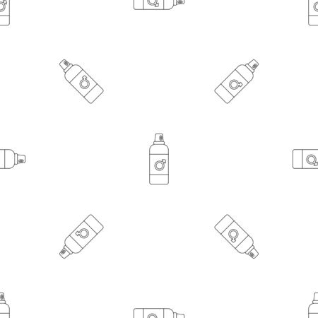 Male contraceptive spray pattern seamless vector Banque d'images - 125032473