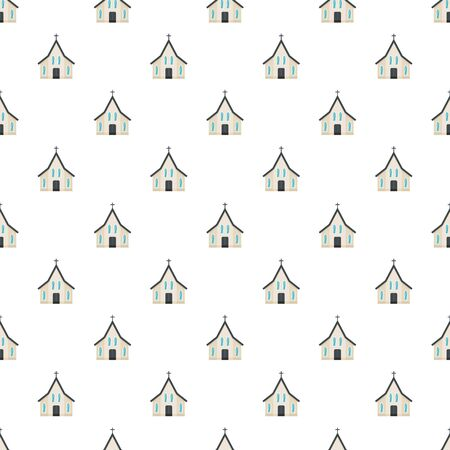 Easter church pattern seamless vector repeat for any web design