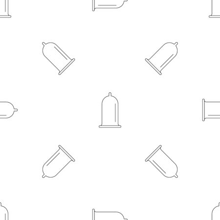 Open condom pattern seamless vector Banque d'images - 125032343