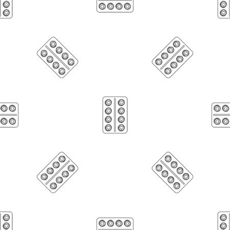 Contraception pill pattern seamless vector Banque d'images - 125032358