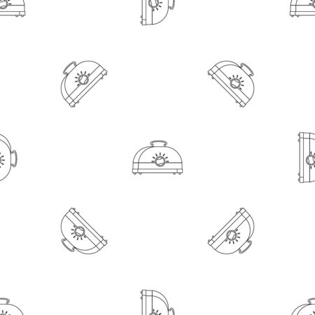 Classic toaster pattern seamless vector repeat geometric for any web design
