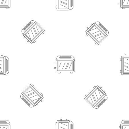 Vintage toaster pattern seamless vector