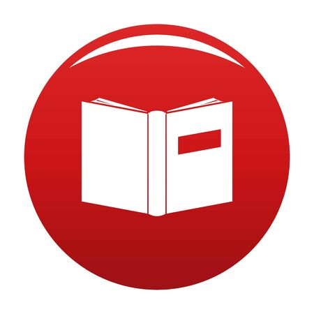 Book inverted icon. Simple illustration of book inverted vector icon for any design red Ilustrace