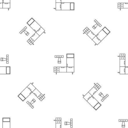 Enter home room pattern seamless vector repeat geometric for any web design Ilustração