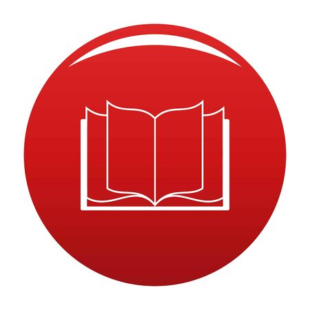 Book learning icon. Simple illustration of book learning vector icon for any design red