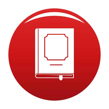 Book design icon vector red Banque d'images - 125032054
