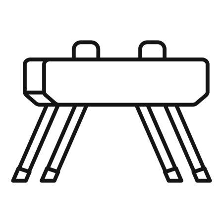 Pommel horse icon, outline style Foto de archivo - 126249804