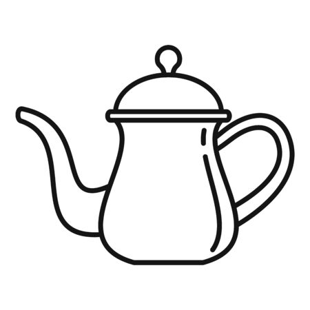 Arabic coffee pot icon, outline style