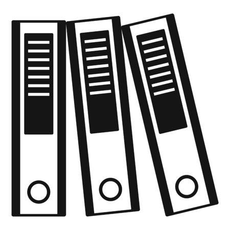 Office folder icon, simple style Ilustración de vector