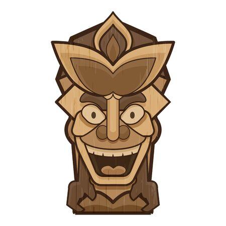 Smiling idol icon, cartoon style  イラスト・ベクター素材