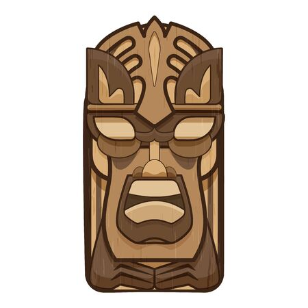 Face idol icon, cartoon style