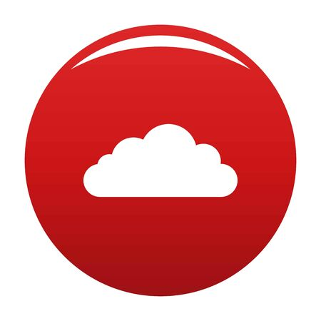 Bottom cloud icon, vector illustration