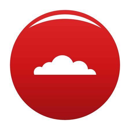 Cumulus cloud icon, vector illustration Illustration