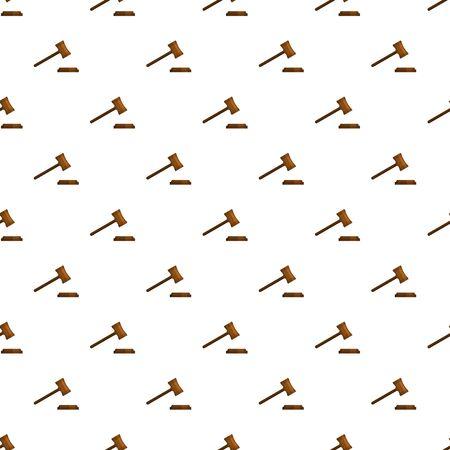 Legal gavel pattern seamless, vector illustration