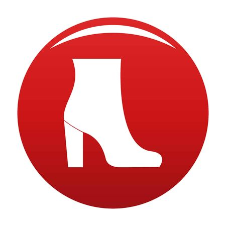 Woman shoes icon, vector illustration