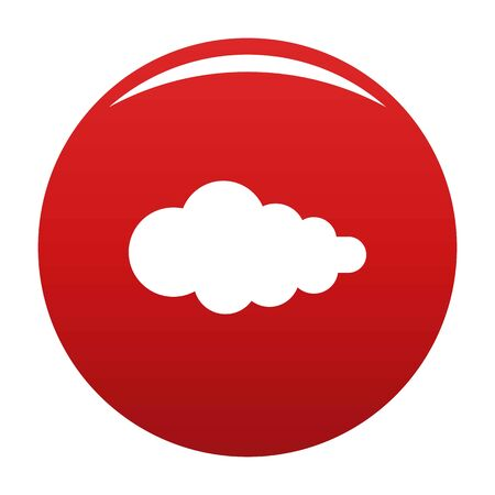 Cloud with fallout icon, vector illustration Illustration