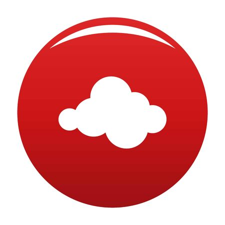 Moving cloud icon, vector illustration