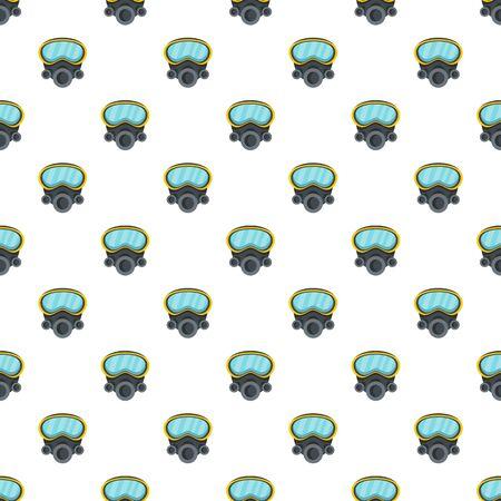 Respirator pattern seamless, vector illustration