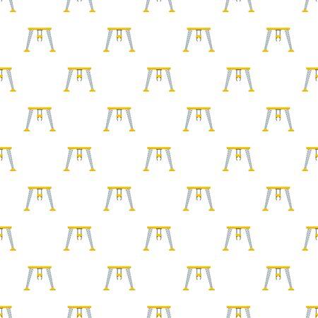 Robotic crane pattern seamless, vector illustration