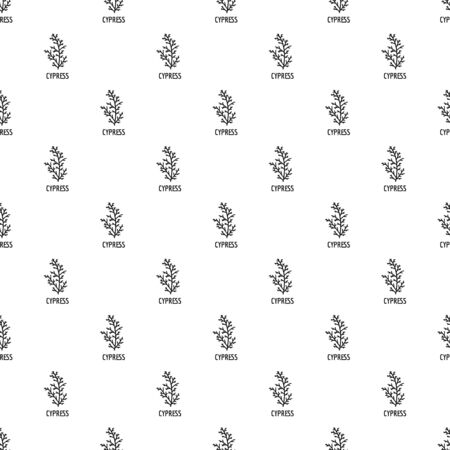 Cypress leaf pattern seamless, vector illustration