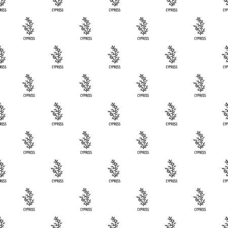 Cypress leaf pattern seamless, vector illustration