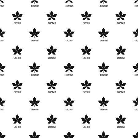 Chestnut leaf pattern seamless, vector illustration Illusztráció