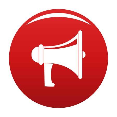 Professional megaphone icon, vector illustration