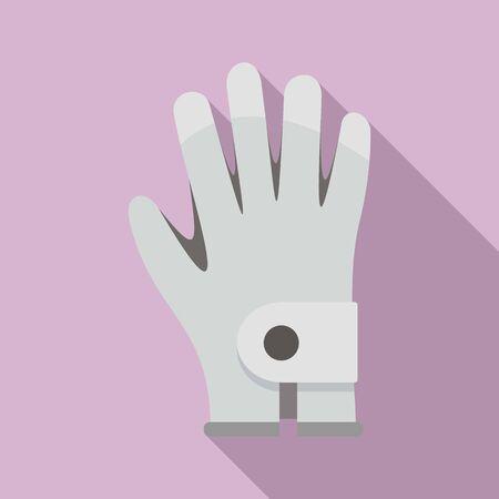 Golf glove icon, flat style Illustration