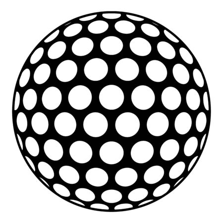 Golf ball icon, simple style
