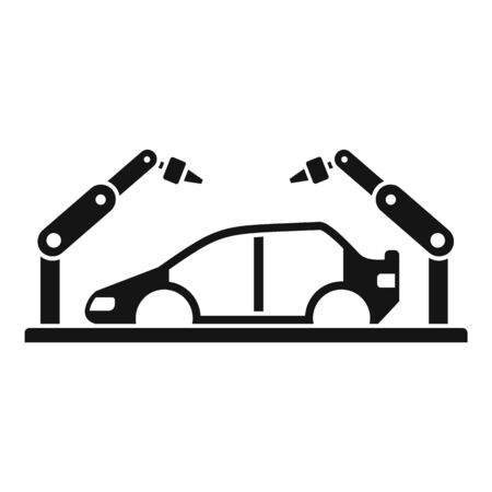Robot car assembly icon. Simple illustration of robot car assembly icon for web design isolated on white background