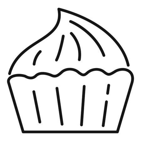 Shop meringue icon. Outline shop meringue icon for web design isolated on white background Stockfoto