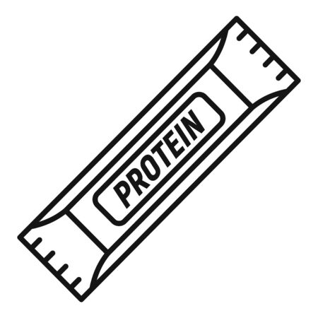 Protein sport bar icon, outline style
