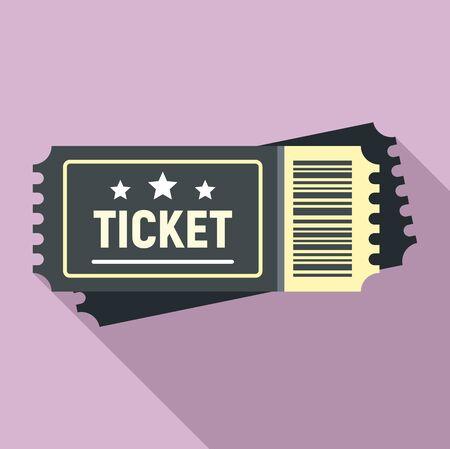 Arena ticket icon, flat style