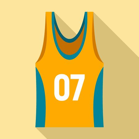 Basketball vest icon, flat style